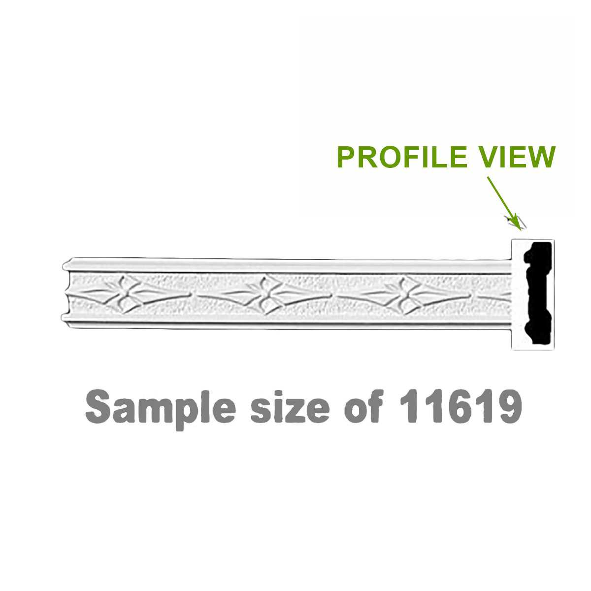 Cornice White Urethane 24' Sample of 11619 | Renovator's Supply