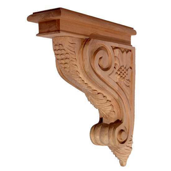 Narrow Grape Corbel Cherry 3 x 9 x 12