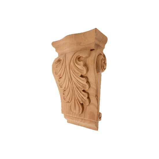 Low Profile Acanthus Corbel Red Oak 2-3/4 x 1-1/2 x 4-1/2
