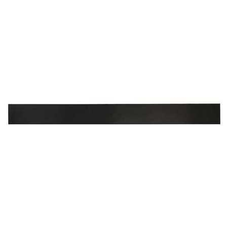 E. JAMES 1/4' High Grade Neoprene Rubber Strip, 2'x36', Black, 50A, 355-1/4HGX