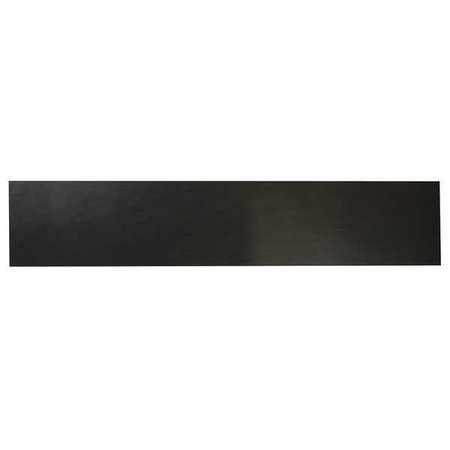 E. JAMES 3/16' Comm. Grade Neoprene Rubber Strip, 4'x36', Black, 50A, 6050-3/16Y