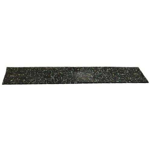 8501-1/8F Recycled Rubber, 1/8 In Thick, 12x48 In