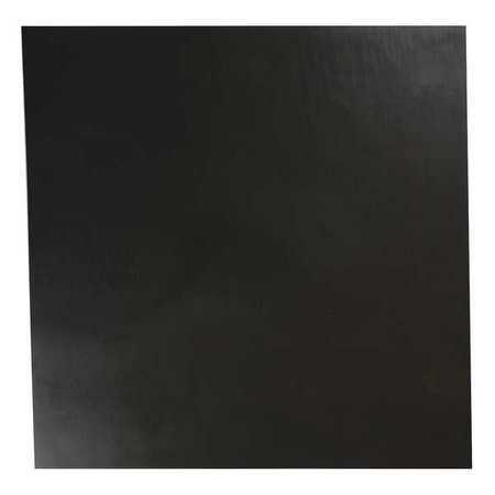 E. JAMES 3/16' Comm. Grade Buna-N Rubber Sheet, 12'x12', Black, 70A, 4070-3/16A