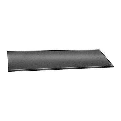 E. JAMES 1/8' High Grade Neoprene Rubber Strip, 4'x36', Black, 60A, 1055-1/8HGY