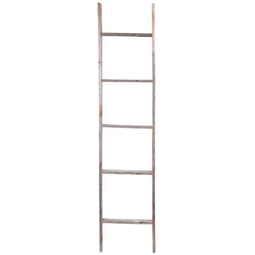 Rustic Decor Rustic Wood 5 ft Decorative Ladder