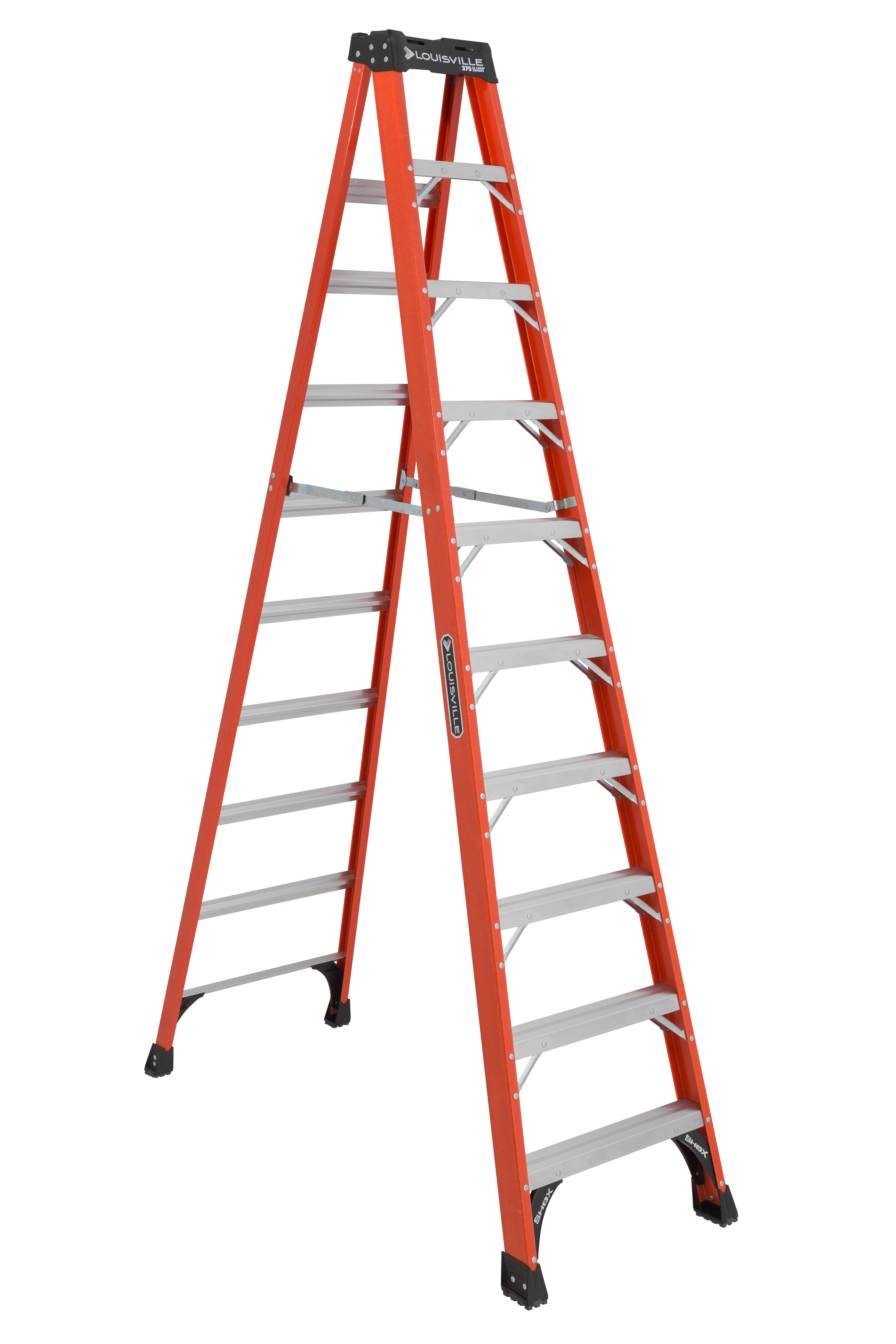Louisville Ladder FS1410HD 10 ft. Fiberglass Step Ladder,Type IAA, 375 lbs Load Capacity
