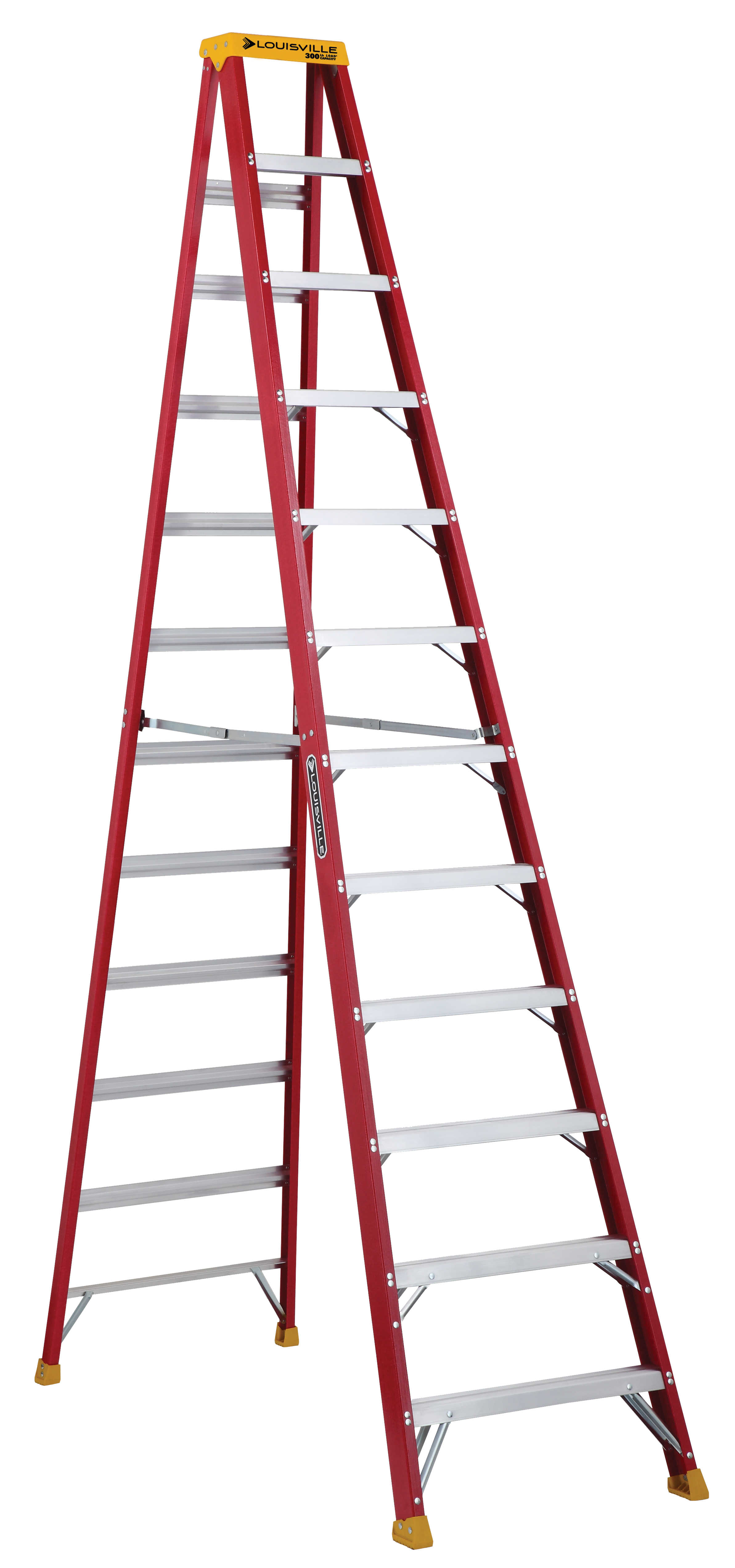 Louisville Ladder L-3016-12 12 ft. Fiberglass Step Ladder, Type IA, 300 lbs. Load Capacity
