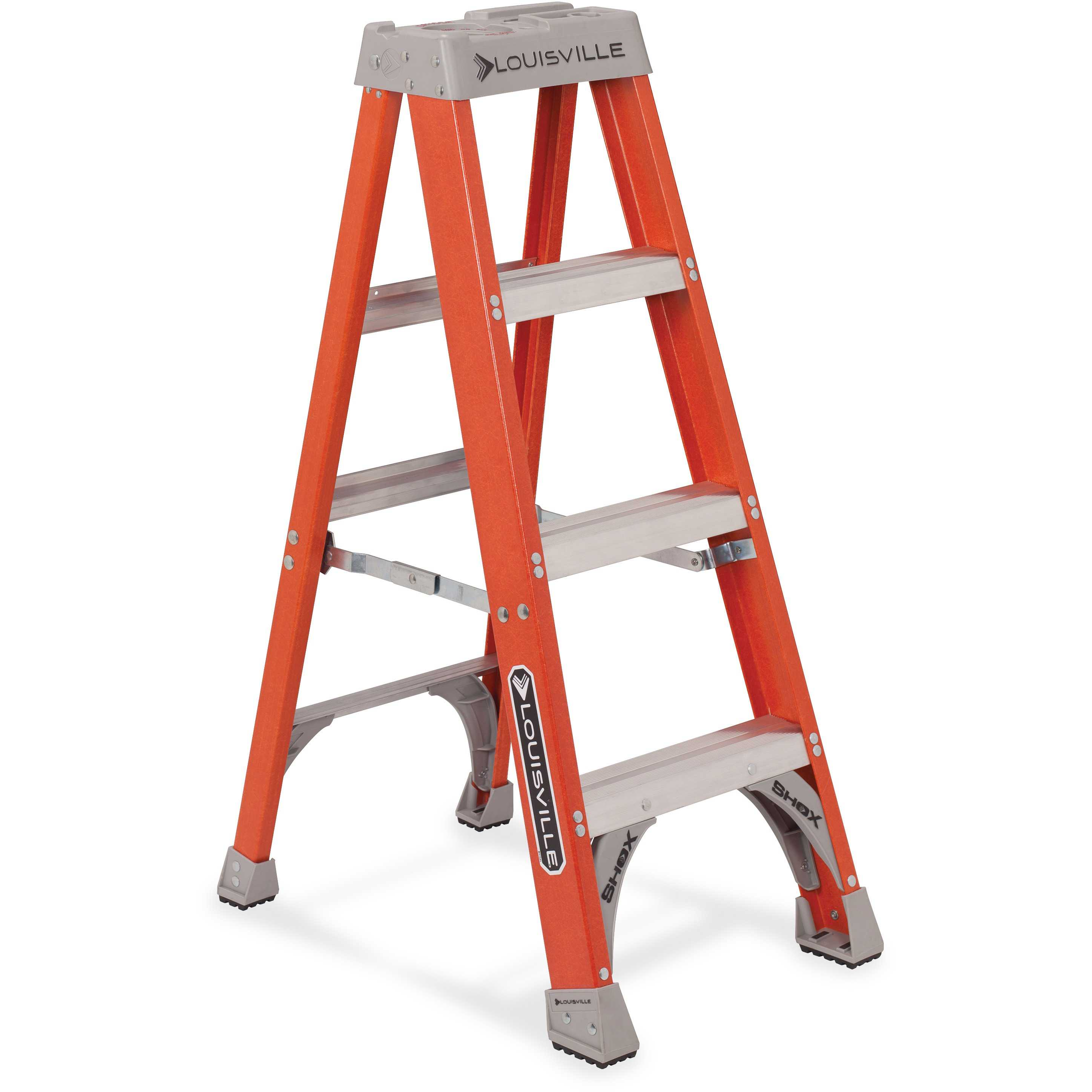 Louisville 4' Fiberglass Step Ladder, Orange