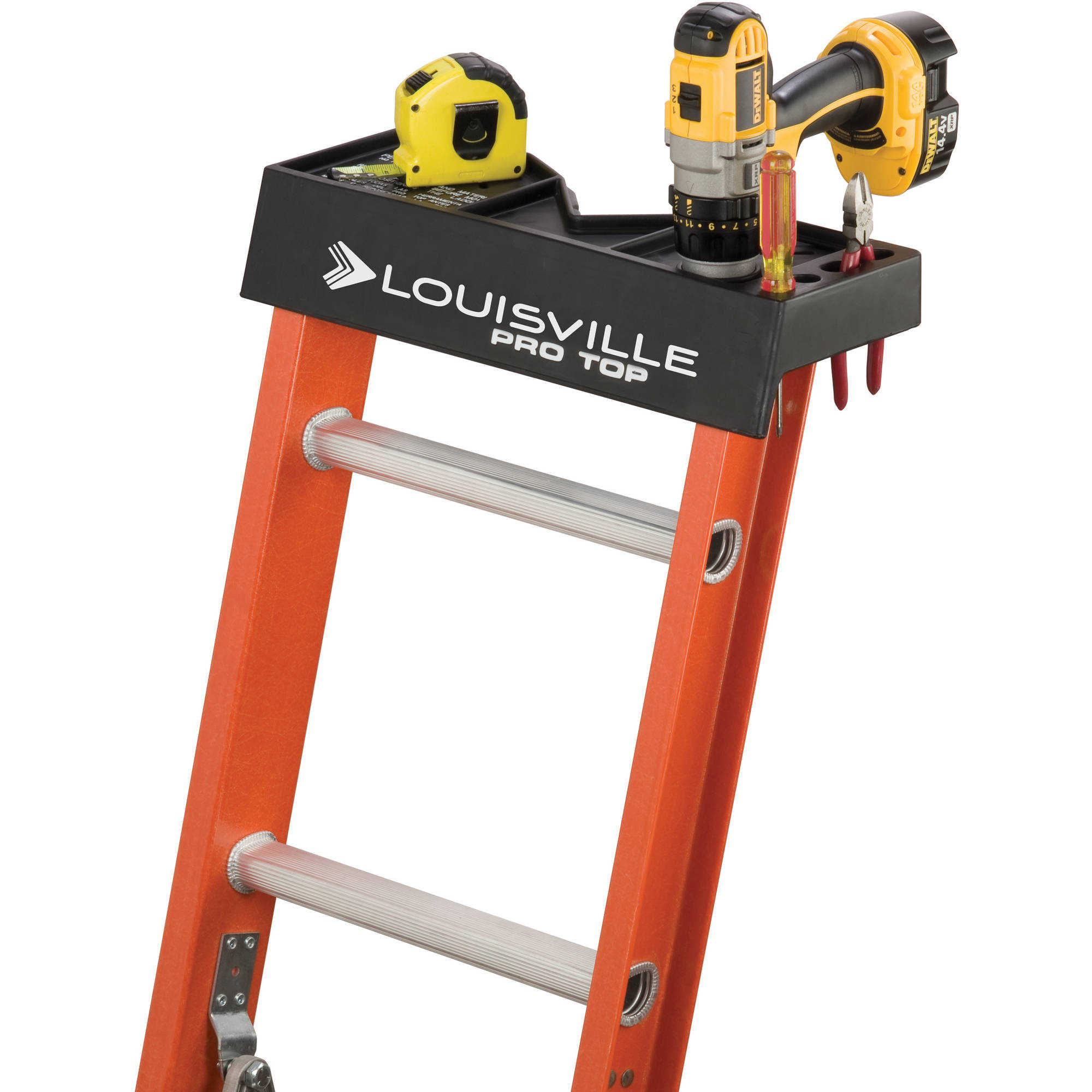 Louisville Ladder L-3022-32PT 32 ft. Fiberglass Extension Ladder, Type IA, 300 Lbs Load Capacity