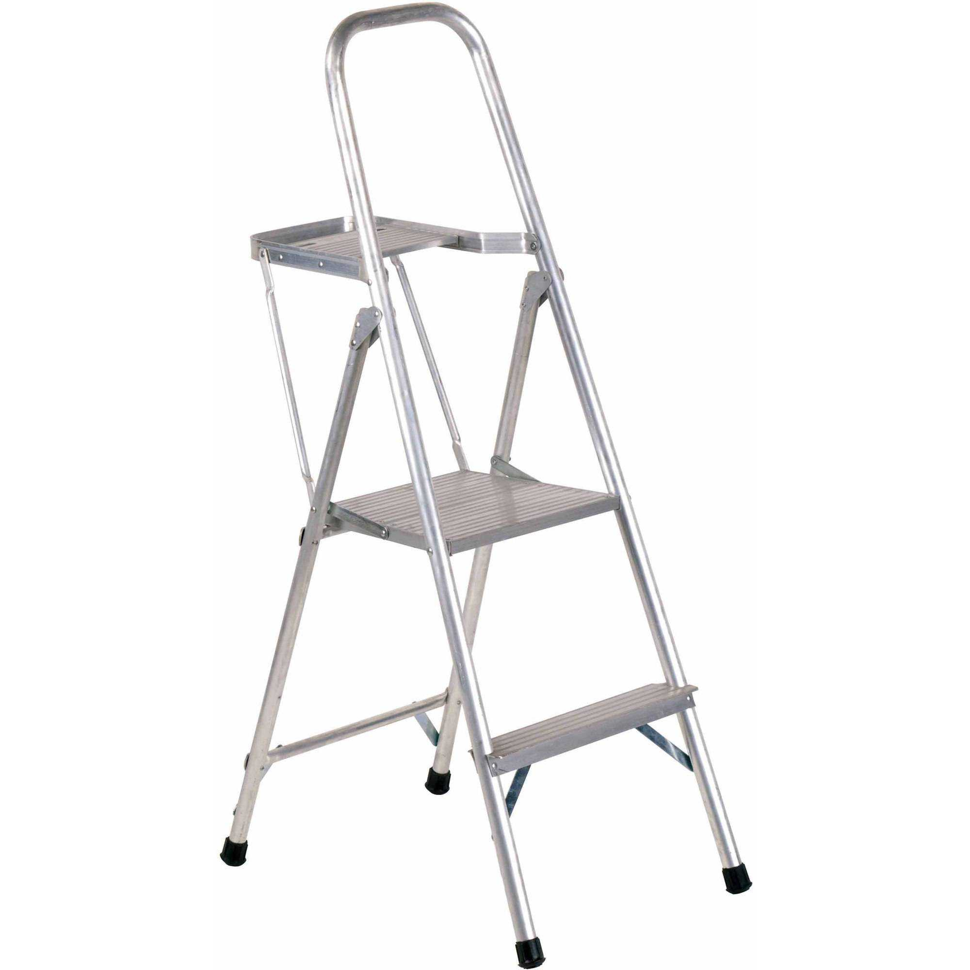 Louisville Ladder AP8004 4 ft. Aluminum Platform Step Stool, Type III, 200 lbs Load Capacity