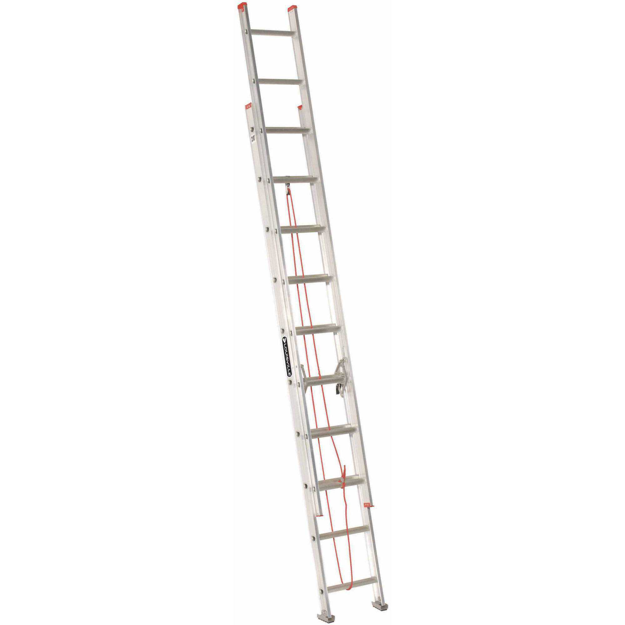 Louisville Ladder L-2324-20 20 ft. Aluminum Extension Ladder, Type III, 200 lbs Load Capacity