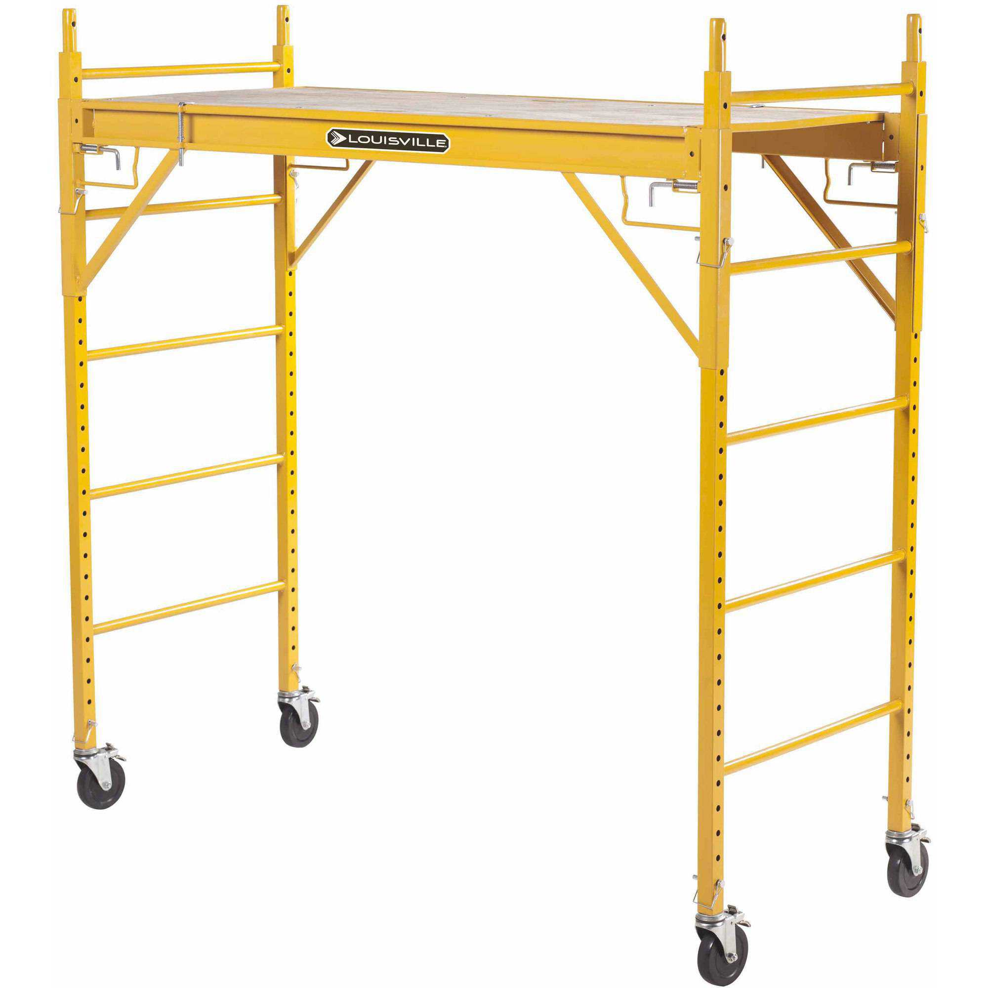 Louisville Ladder 6' x 6' Steel Rolling Scaffold, 1000 lbs Duty Rated