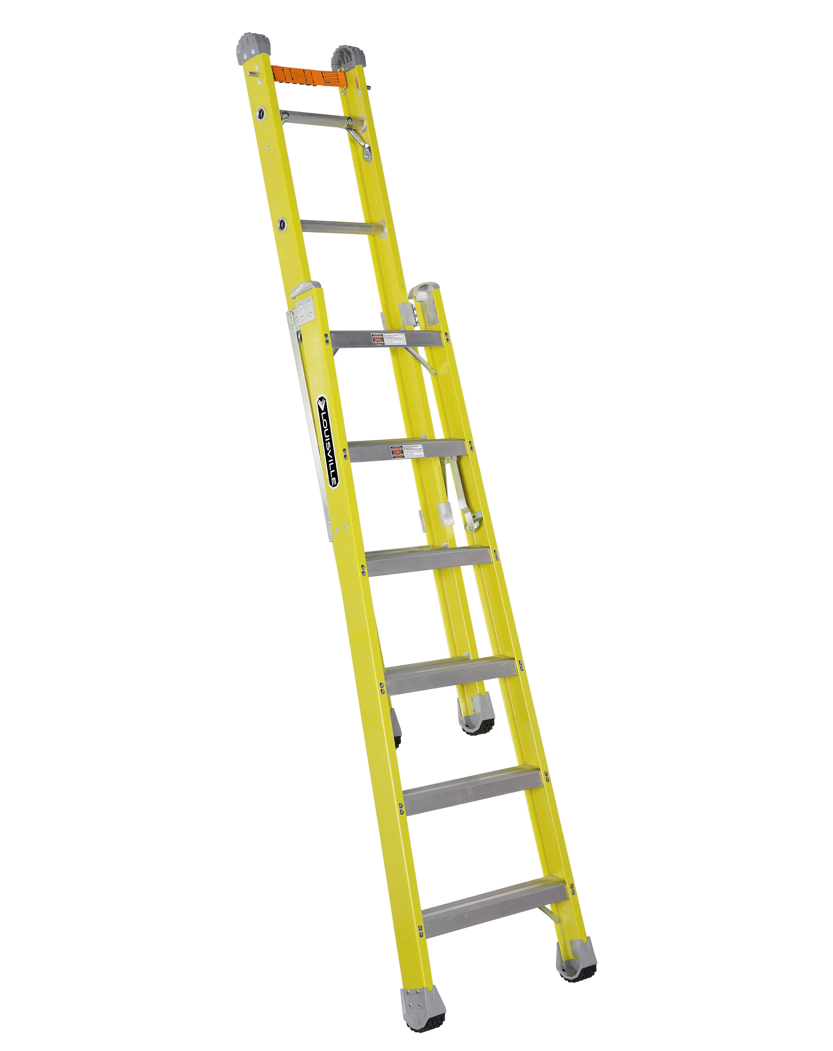 Louisville Ladder FXC1206 6 ft. Fiberglass Combination Ladder, Type IAA, 375 Lbs Load Capacity