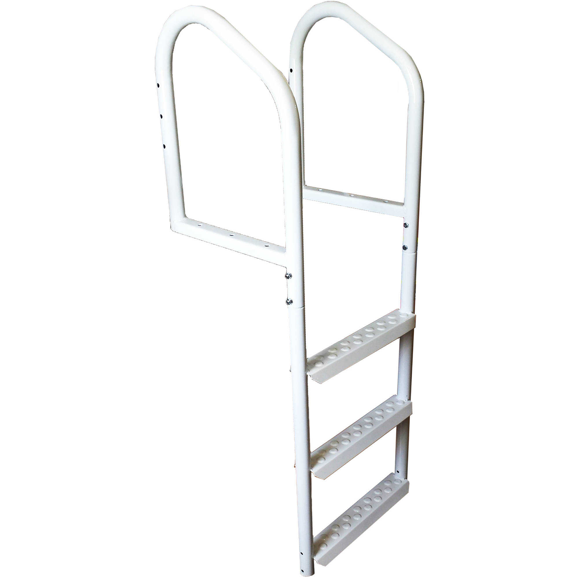 Multinautic 3-Step Steel Dock Ladder, White