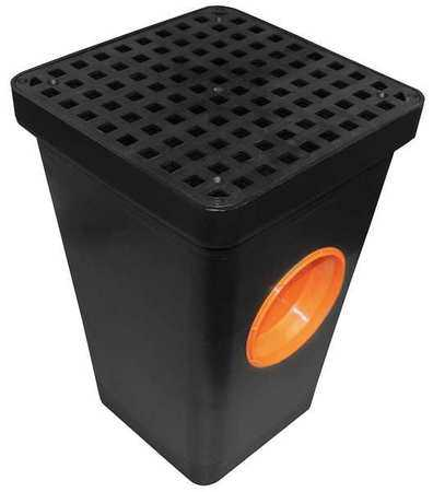 TUF-TITE 2HDS-1B Two Hole Drain Sump w/Grate, Blk, Plastic