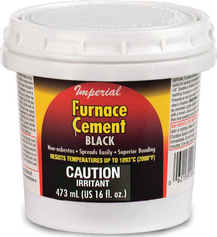 Imperial KK0295-A Furnace Cement, 473 ml, Tub, Black, Thick Paste