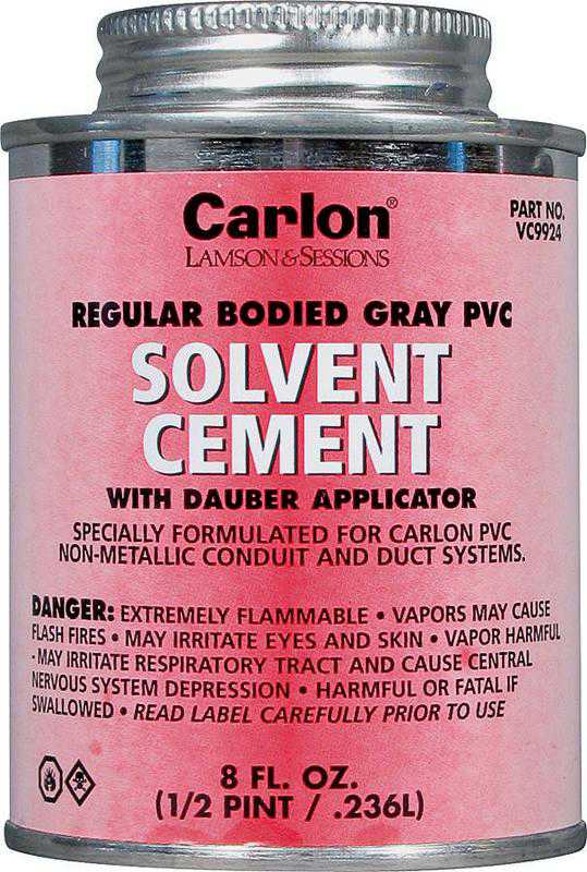 Carlon VC9924-24 Standard Electrical Cement, 8 oz, Gray Liquid