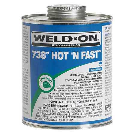 WELD-ON 13986 Cement,PVC,16 Oz,Blue