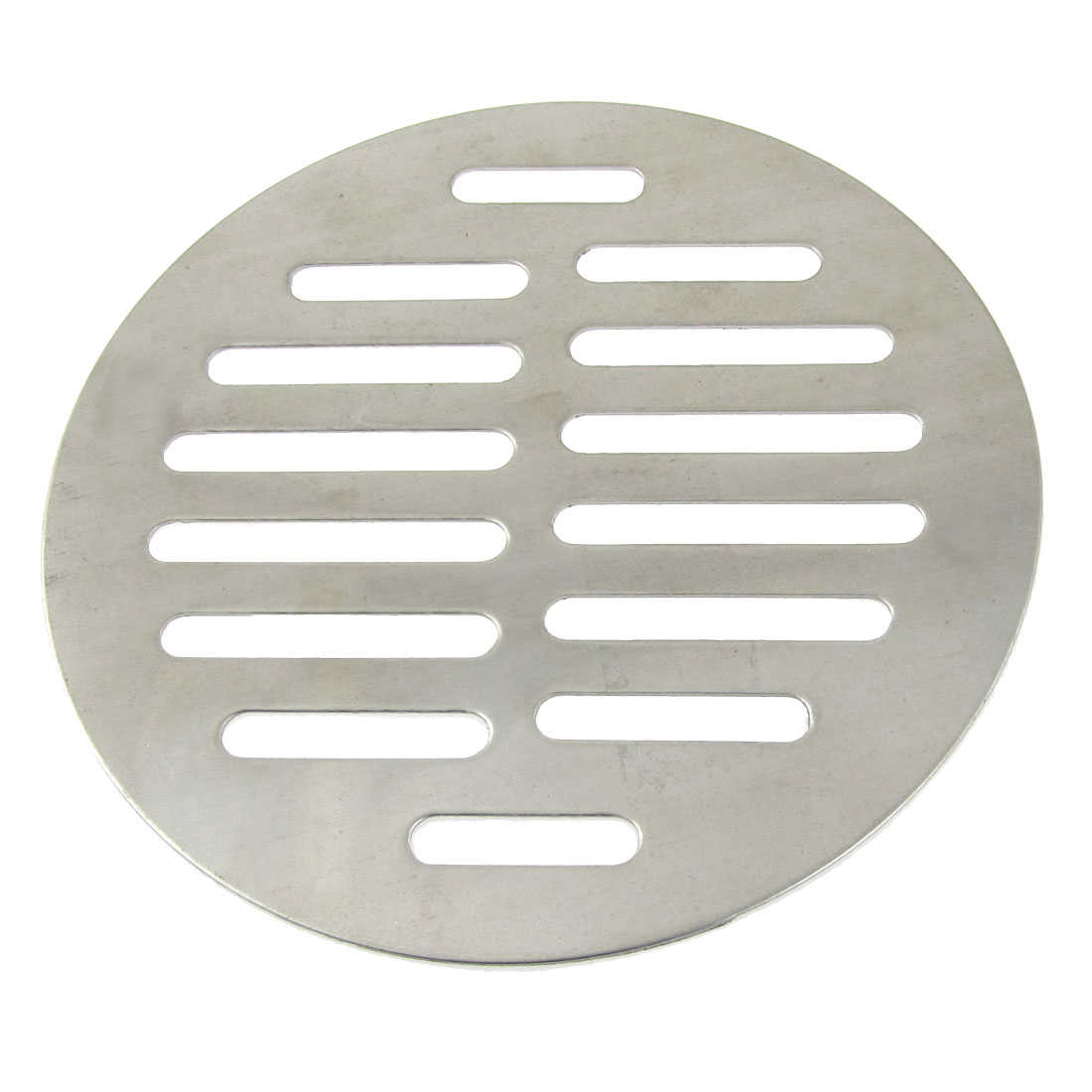 Unique Bargains Water Leak Round Silver Tone Stainless Steel Floor Drain Cover Fpogo