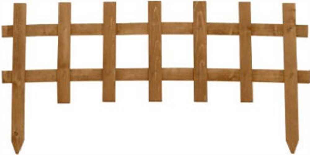 Greenes Fence RC 75B Cedar Stain Deluxe Cape Cod Picket Fence, 18-In. x 3-Ft.