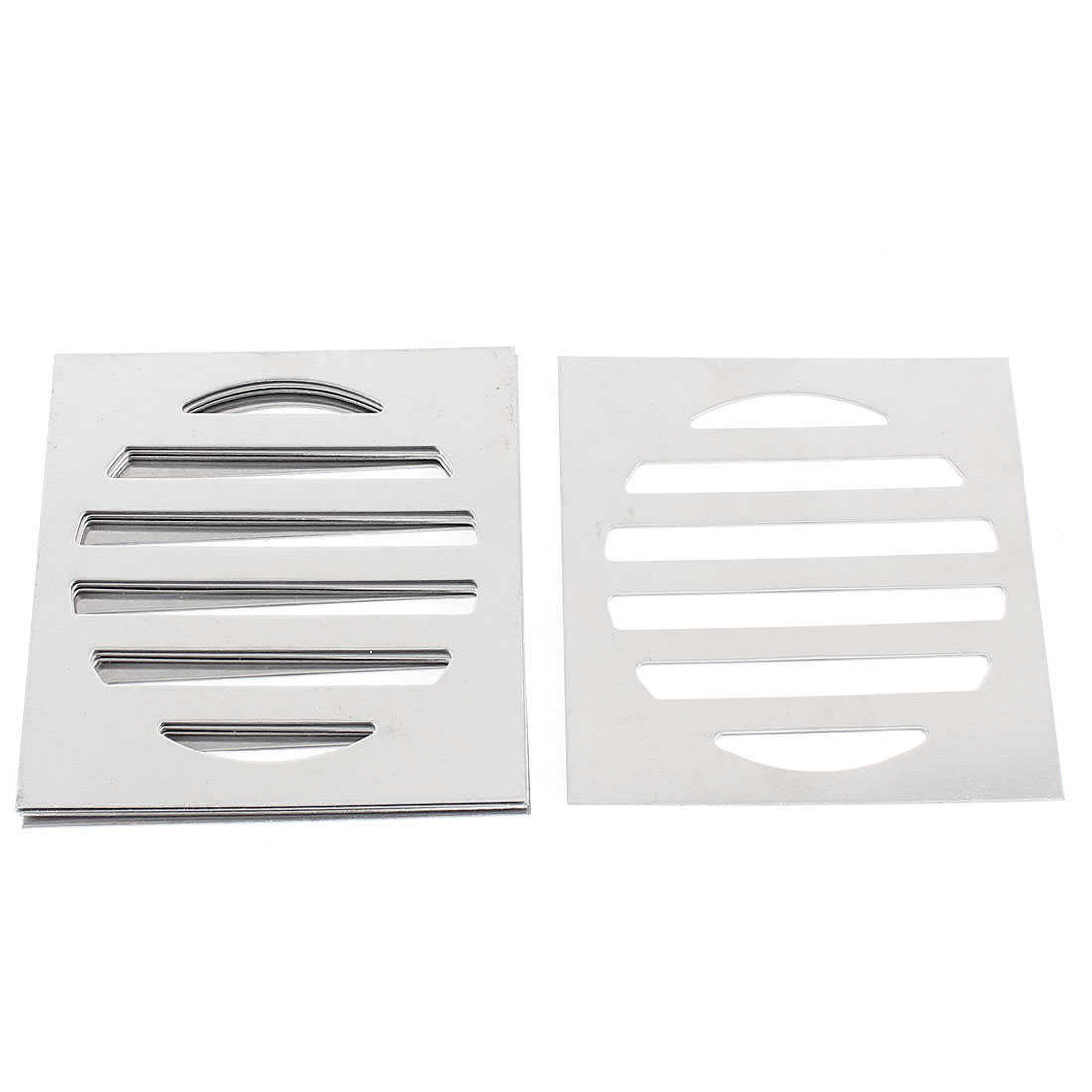 Unique Bargains Stainless Steel Kitchen Bathroom Square Floor Drain Cover 3' 7.5cm 5pcs