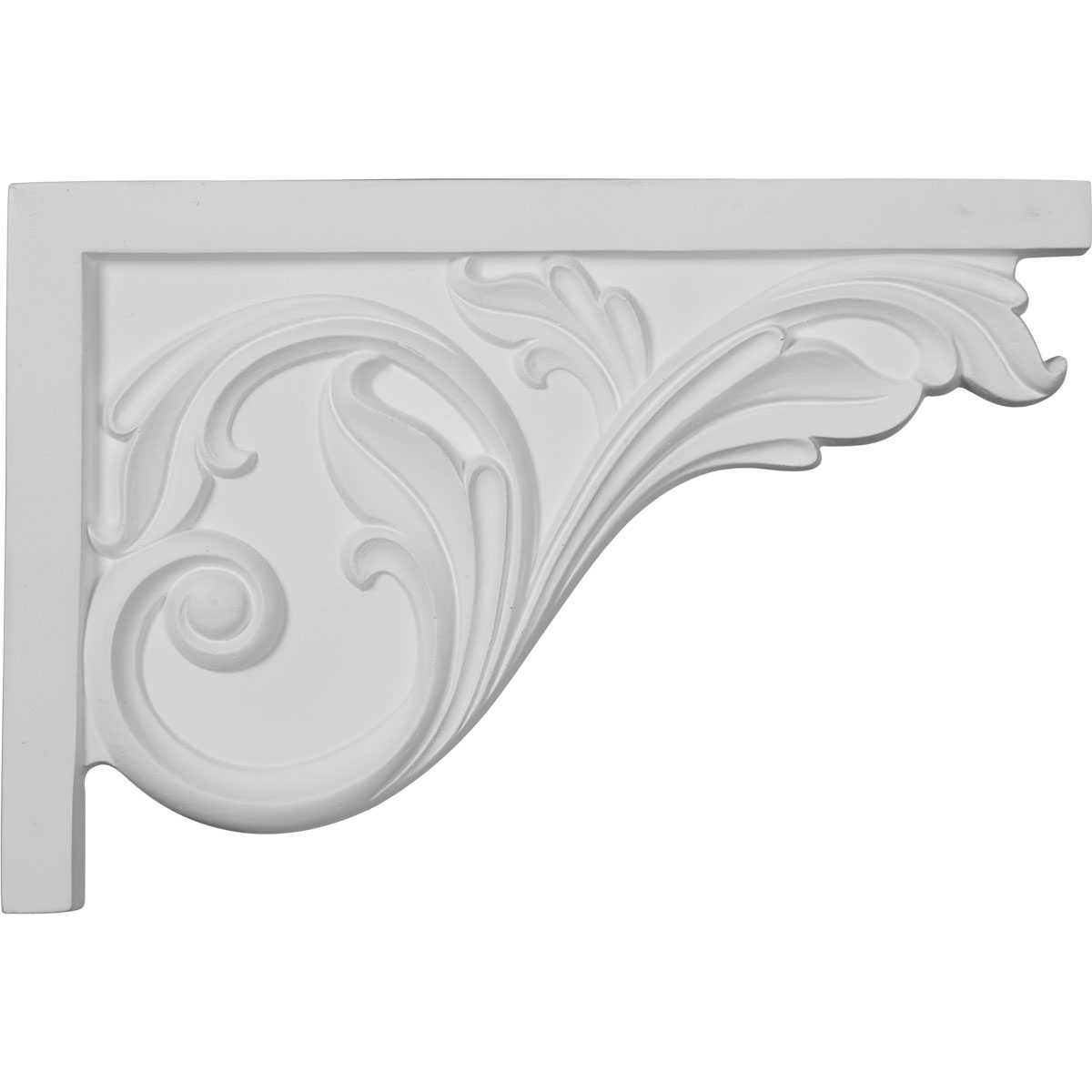 Ekena Millwork Acanthus 7 3/4''H x 11 3/4''W x 3/4''D Large Stair Bracket
