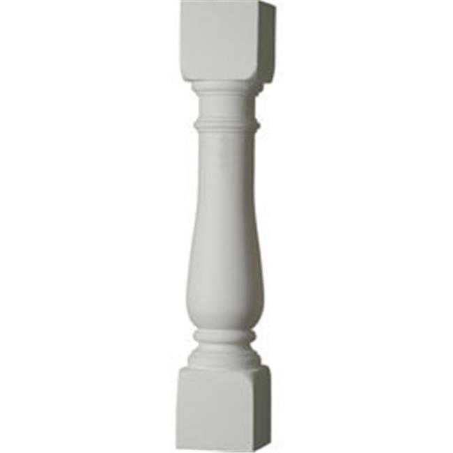 Ekena Millwork BAL05X28OX 5 In. W X 28 In. H Architectural Oxford Baluster - 7.5 In. with On Center Spacing To Pass 4 In. Sphere Code