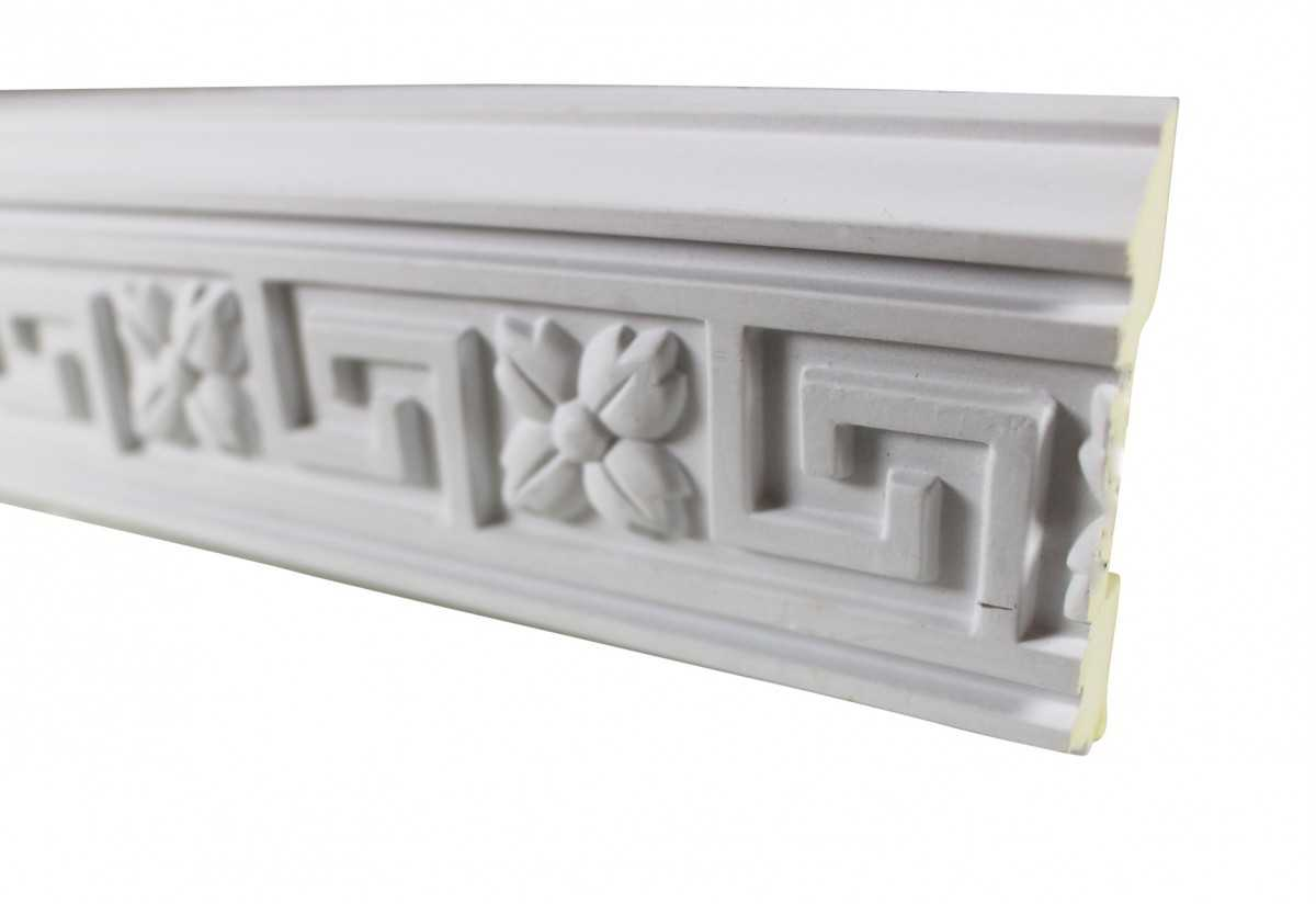 Cornice White Urethane Sample of 18857 19.5' Long | Renovator's Supply