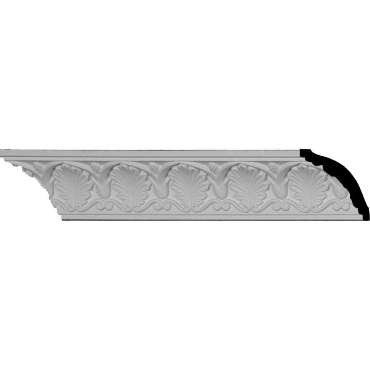 2 1/2'H x 2 1/2'P x 3 5/8'F x 96 1/8'L, (2 3/4' Repeat), Bonetti Crown Moulding