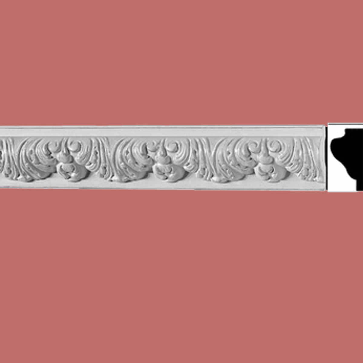 Ornate Cornice Withe Urethane 2 3/8' H Bebel | Renovator's Supply