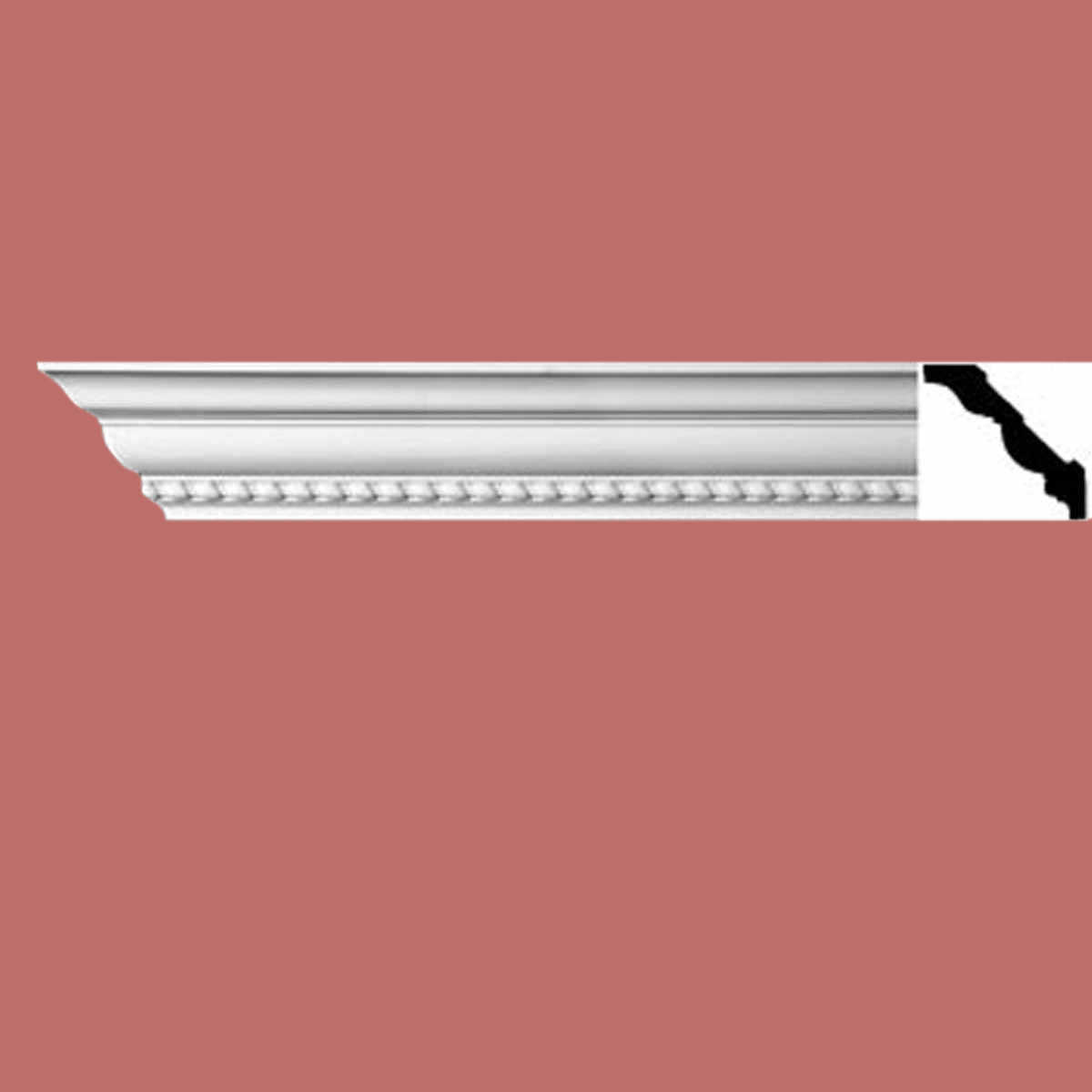 Ornate Cornice White Urethane 3' H Chilton Springs | Renovator's Supply