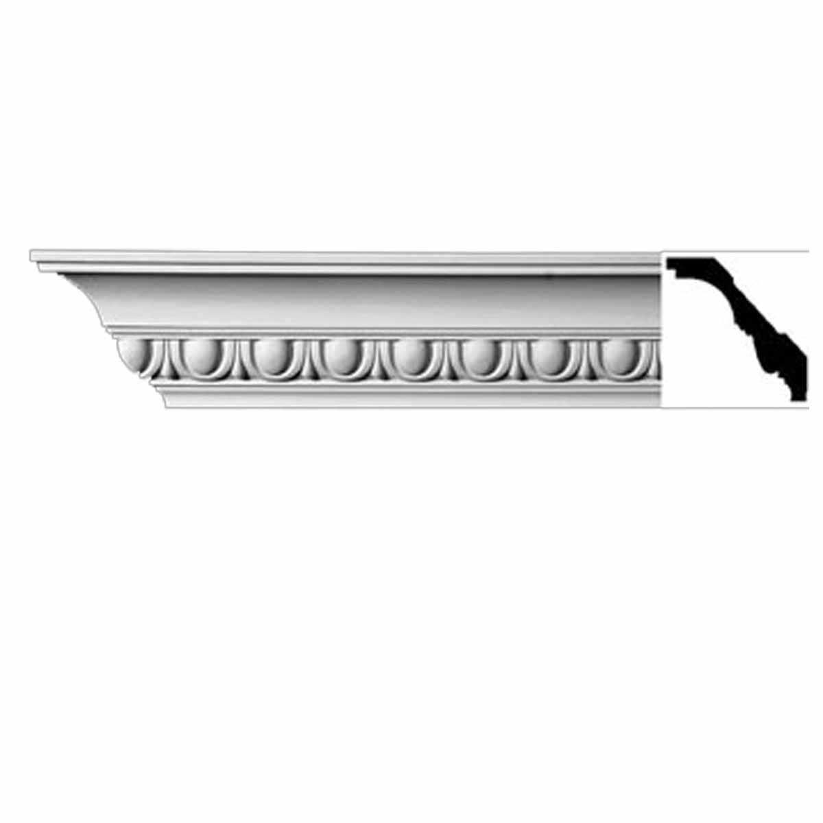 Cornice White Urethane Willamette 3 H Ornate | Renovator's Supply