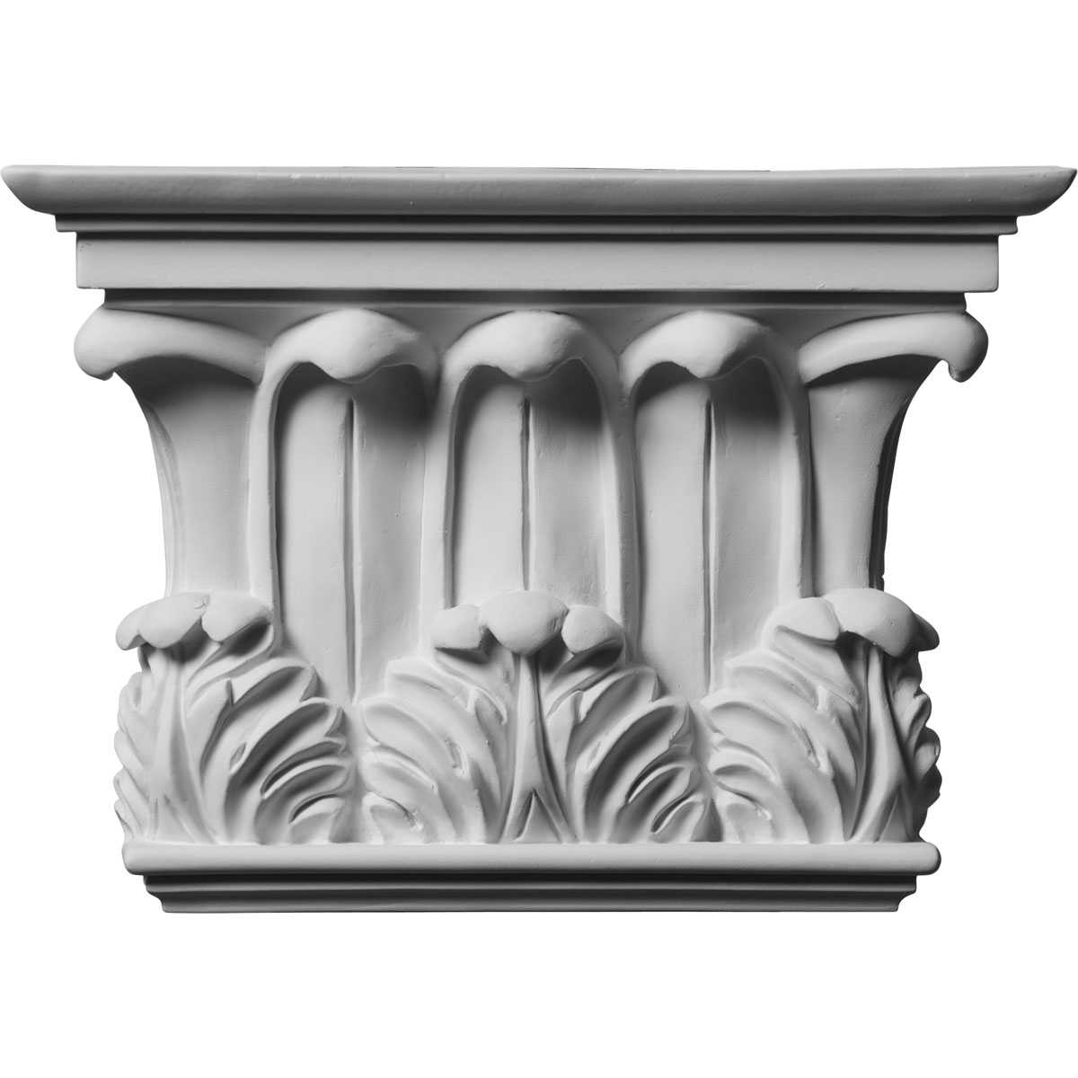 10 3/4'W x 7 5/8'H x 2 3/4'P Temple of Winds Capital (Fits Pilasters up to 7 3/8'W x 1 1/8'D)