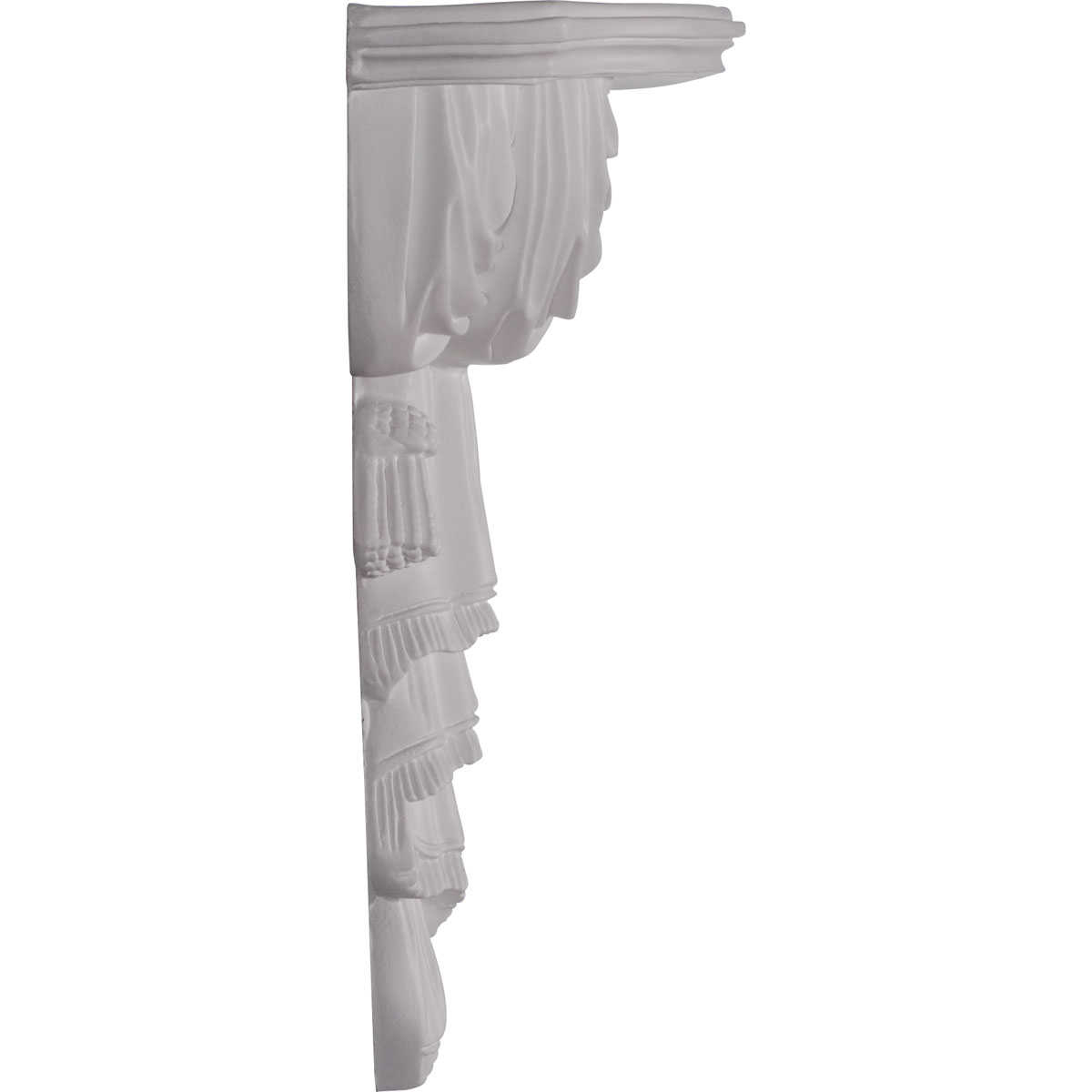 Ekena Millwork Tassel and Ribbon 12 1/8''H x 9 3/4''W x 4 1/2''D Shelf