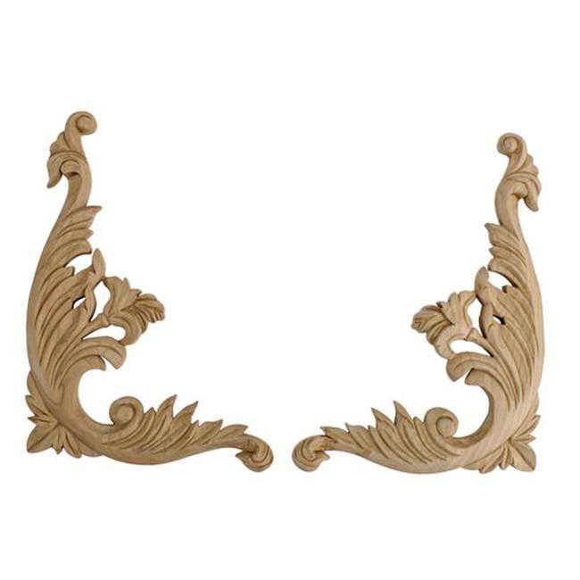 American Pro Decor 5APD10424 Small Carved Wood Scroll