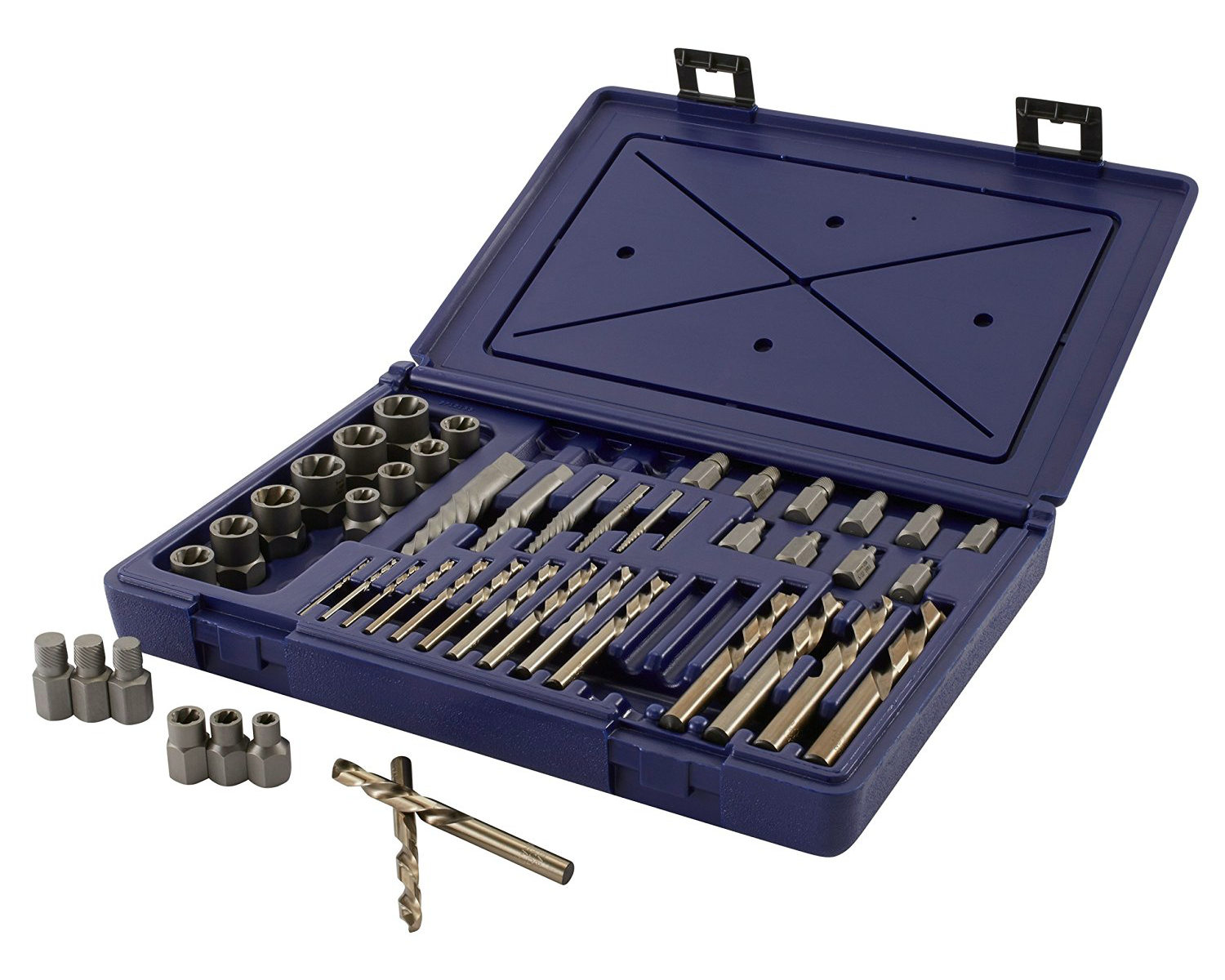 48 Piece Screw Extractor/Drill Master Set