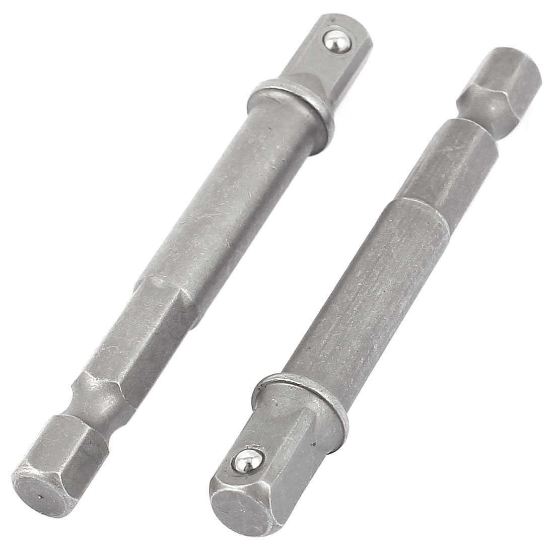65mm Long 1/4' Hex Shank Driver Bit Nut Setter Socket Adapter 2PCS