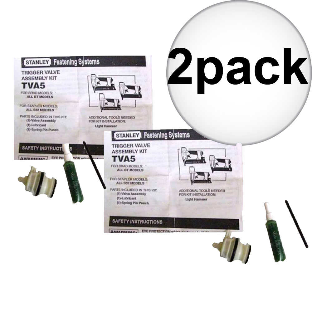 Bostitch TVA5 Trigger Valve Repair Kit for S32 and BT Nailers 2-Pack