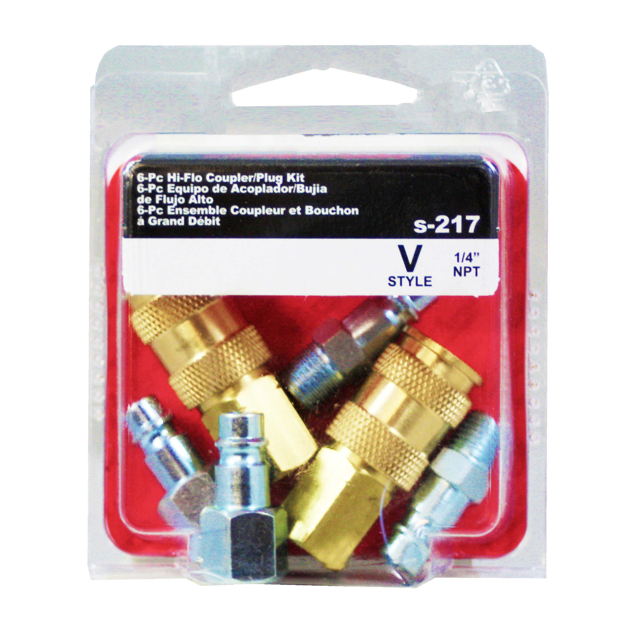 Milton S-217 1/4' NPT V Style Coupler and Plug Kit