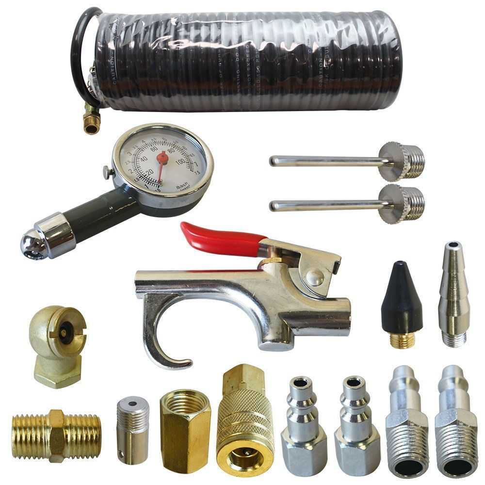 Interstate Pneumatics C16K 16-Piece Air Tool Accessory Kit with Hose