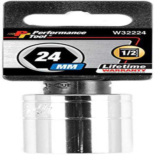 Performance Tool W32224 Size: 1/2' Dr 24mm 6pt Socket