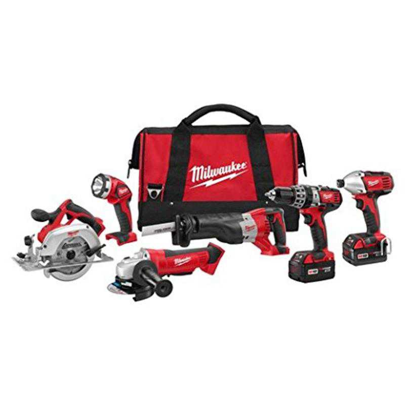 M18 Cordless Lithium-Ion 6-Tool Combo Kit Milwaukee Misc. Hand Tools 2696-26