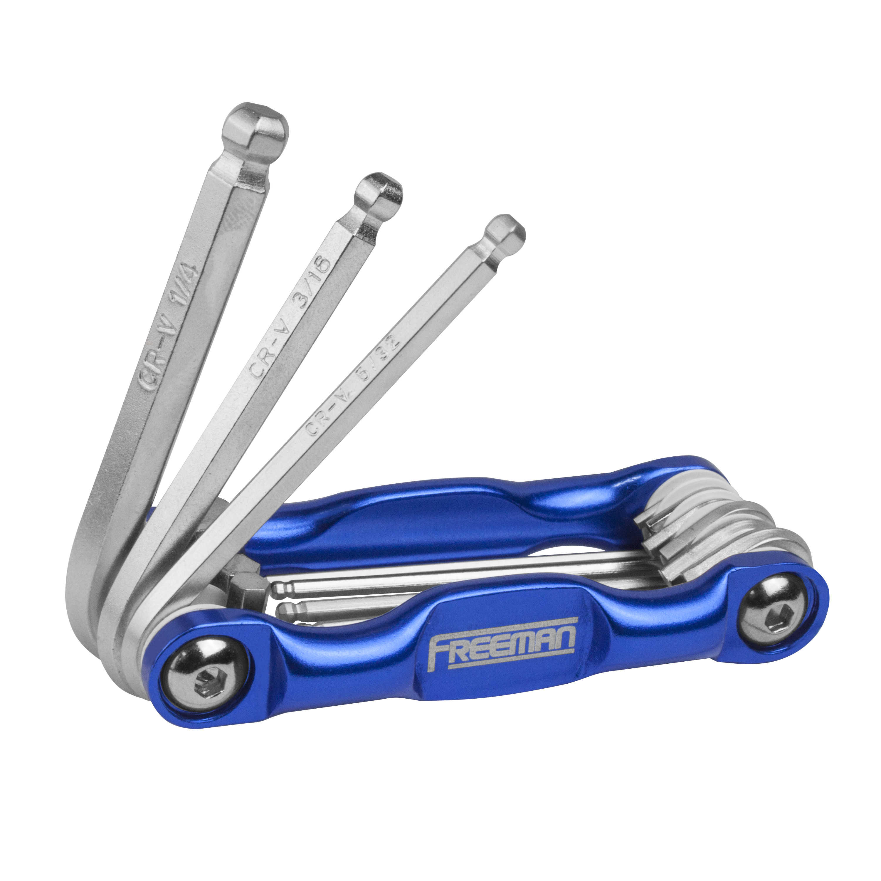 Freeman 3-Piece Aluminum Folding Metric Hex/SAE Hex Wrench and Torx Key Kit