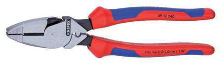 Knipex 9-1/4', Linemans Pliers, Chrome Vanadium Steel, 09 12 240 SBA
