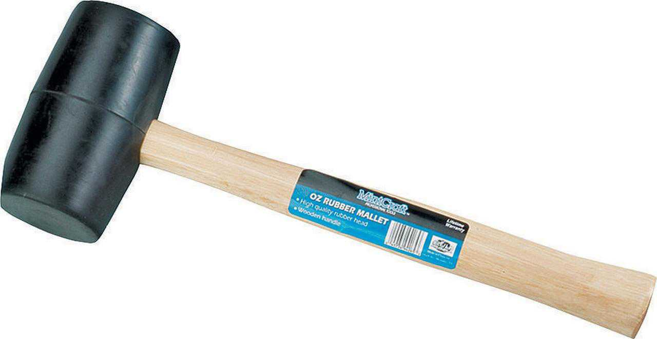 ProSource JL241163L Mallet, 16 oz, Rubber