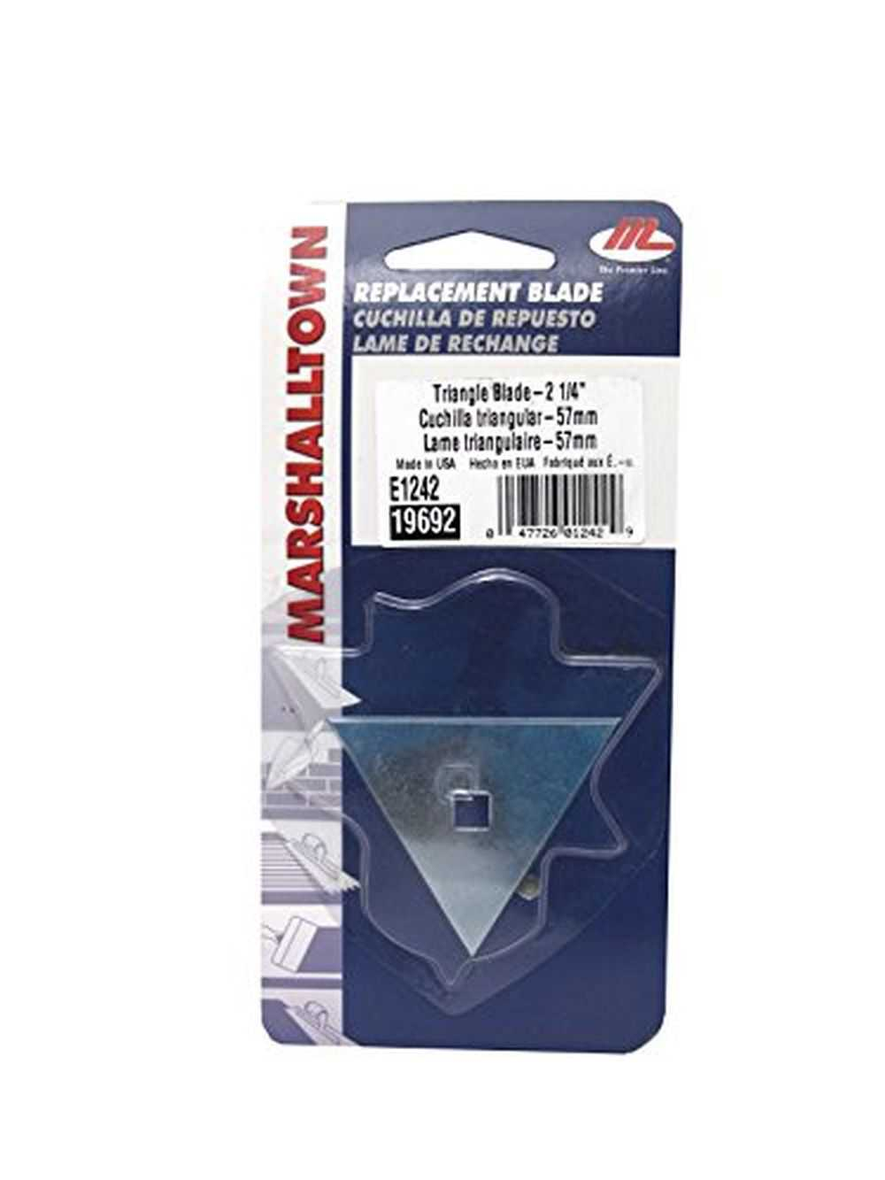 Marshalltown E1242 2-1/4' Triangle Blade