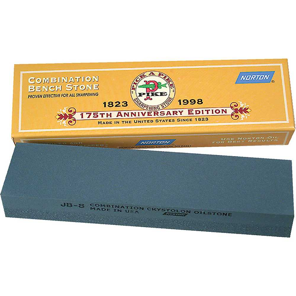 Victorinox 8' x 2' x 1' Combination Sharpening Stone, Fine and Coarse, JB8 Crystolon