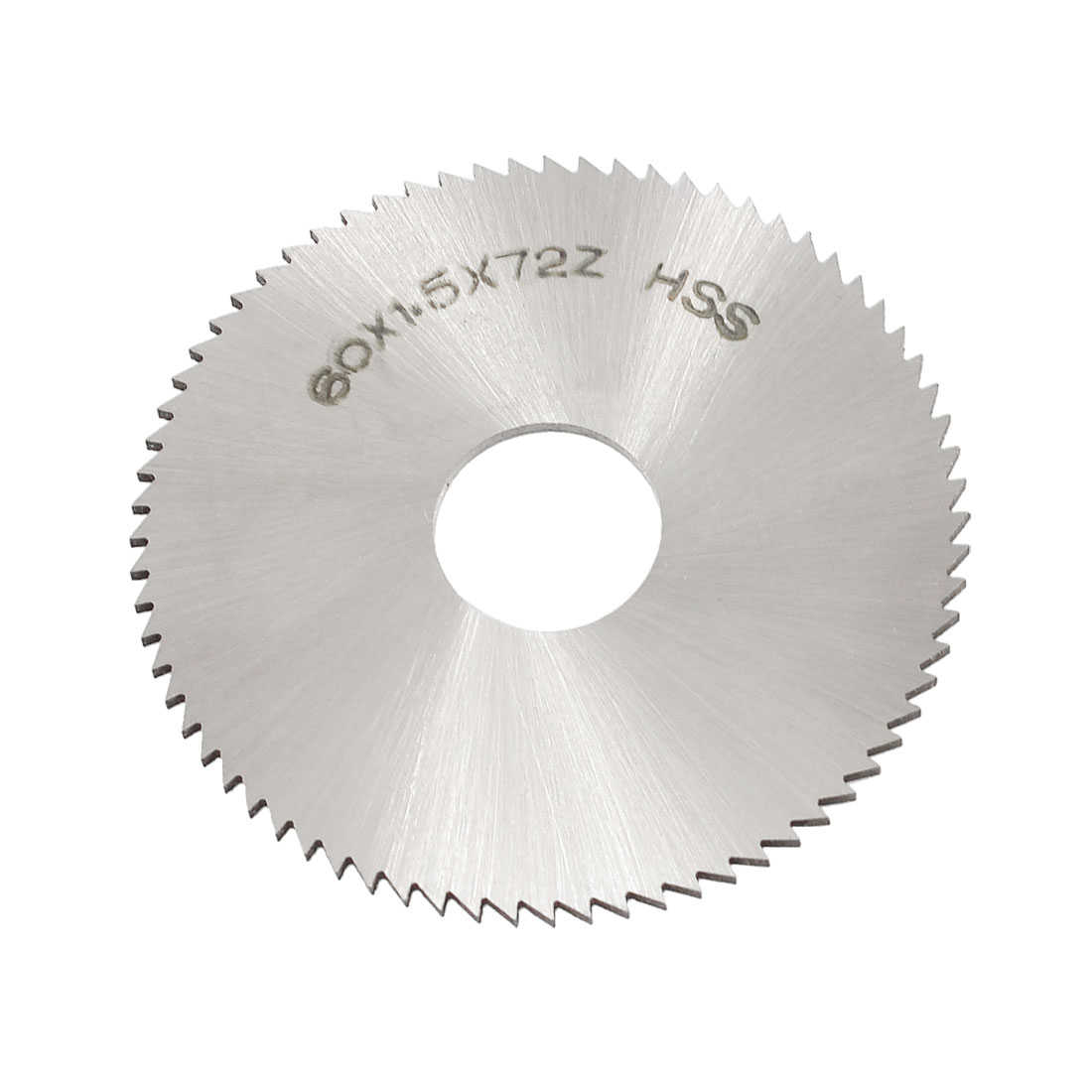 Unique Bargains Silver Tone HSS 60mm x 1.5mm x 16mm 72T Slitting Saw