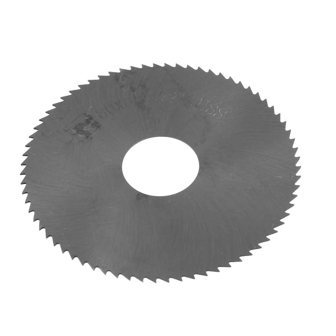 Unique Bargains 8cm x 0.05cm x 2.2cm 72 Teeth HSS Slitting Saw Blade Cutting Tool