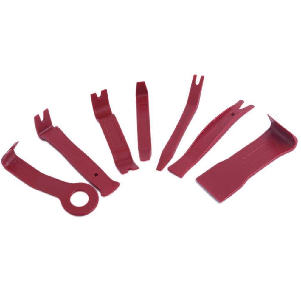 Red Trim Removal Tool Kit Upholstery Trim Moldings Pry Clip Dash Door Panels